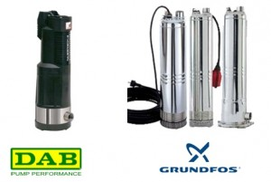 Grundfos and DAM well or tank pumps